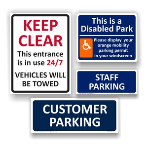 Car Park Safety Signs