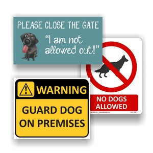 Dog Safety Signs