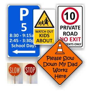 Driveway & Traffic Safety Signs
