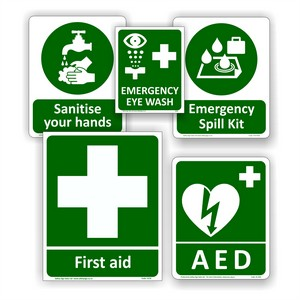 First Aid and Hygiene Signs