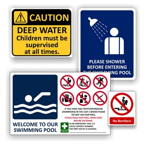 Pool & Water Safety Signs