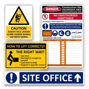 Workplace & Site Safe Signs