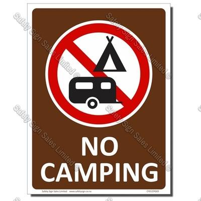 CYO|CPG03 - NO CAMPING SIGN