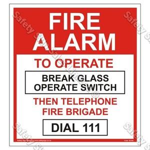 SC50L Fire Alarm Label