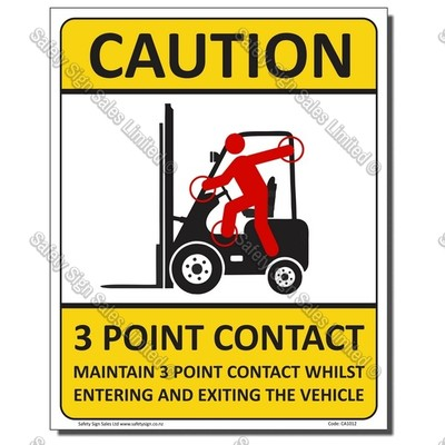 CYO|CA104 - 3 Point Contact Sign Forklift