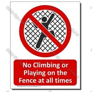 CYO-PA24 No Climbing The Fence 1
