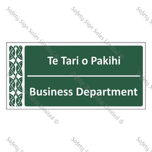 Business Department | Te Tari o Pakihi - ME004