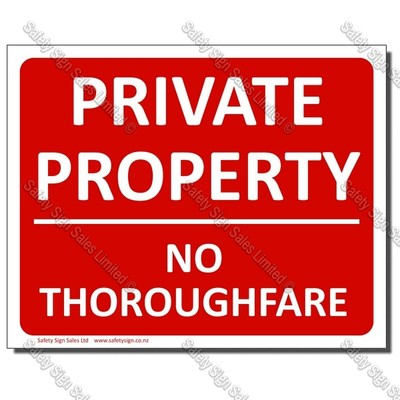 CYO|PA28 Private Property Sign