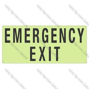 PLEMEX - Emergency Exit Photoluminescent Sign