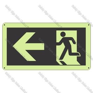 CYO|SCGID10 - Running Man Left Glow-In-The-Dark Sign