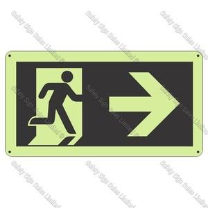 PLEXR - Running Man Right Photoluminescent Sign