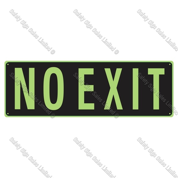 CYO|SCGID13 - No Exit Glow-In-The-Dark Sign.