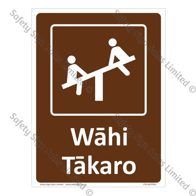 CYO|MCP05A -Wāhi Tākaro Sign