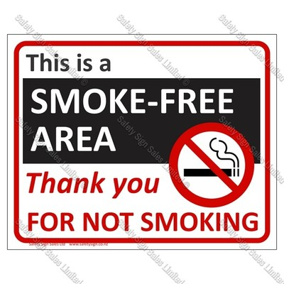 CYO|PA29 - Smokefree, Thank you for not smoking sign