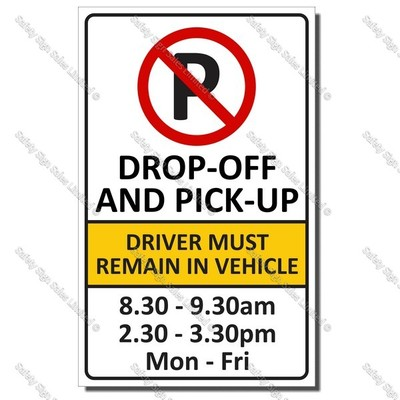 CS13 300 x 480mm - DROP OFF SIGN