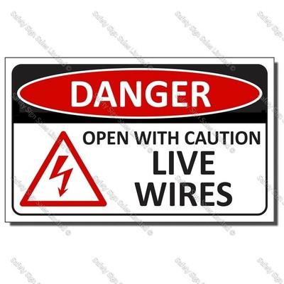 Code: CYO|EL6 - Live Wires Label Size: 90 x 55mm