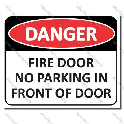 CYO|DA28 - Fire Door No Parking Sign