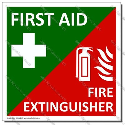 CYO-FFE21 - Vehicle First Aid and Fire Extinguisher Label
