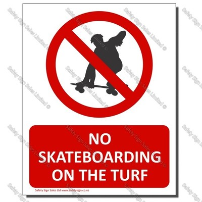 CYO-PA31 No Skateboarding on the Turf