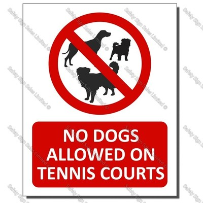 CYO|PA46A – No Dogs Allowed on the Tennis Courts