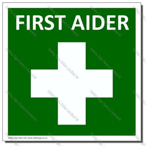 CYO-SC32C - First Aider Sign/Label
