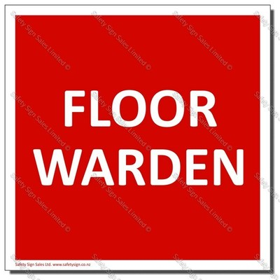 CYO-SC32D - First Aid Floor Warden Sign/Label