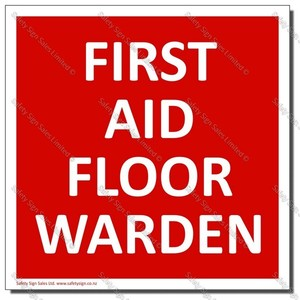 CYO-SC32E - First Aid Floor Warden Sign/Label
