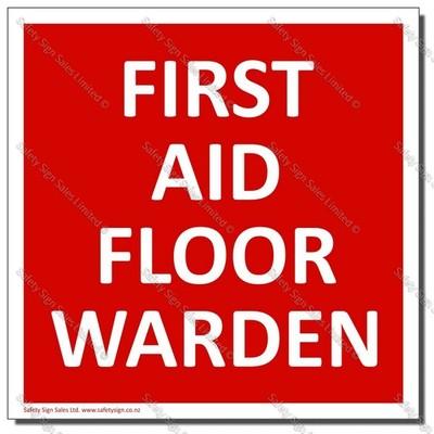 CYO-SC32E - First Aid Floor Warden Sign/Label