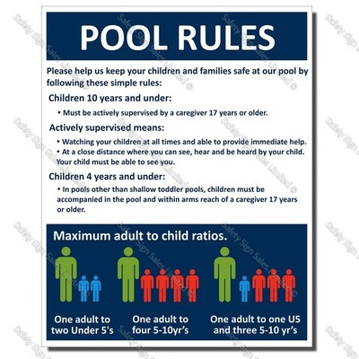 CYO-SP06 Pool Rules Sign