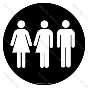 CYO|A21 - Restroom | Toilet Sign