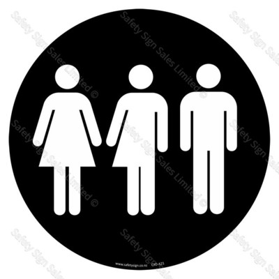 CYO A21 - Restroom   Toilet Sign