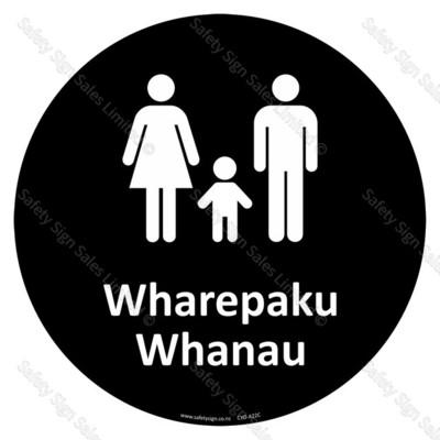 CYO|A22C - Wharepaku Whanau Sign | Family Toilets