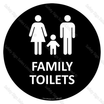 CYO-A22D Family Toilets Sign