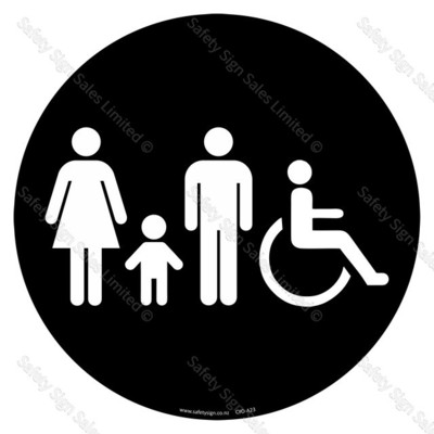 CYO-A23 Family Toilet Sign