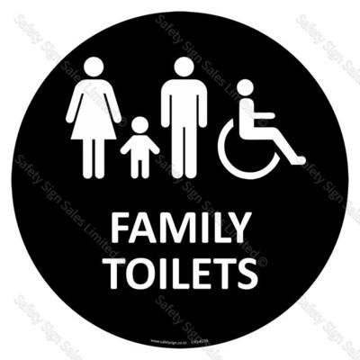 CYO-A23A Family Toilets Sign