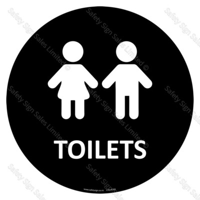 CYO|A26A - Youth Toilet Sign (Self-adhesive)