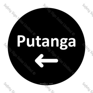 CYO|A42C Putanga Sign | Exit Arrow Left