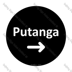 CYO|A42D Putanga Sign | Exit Arrow Right