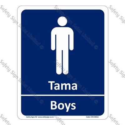 CYO|M01A - Tama Boys Bilingual Sign