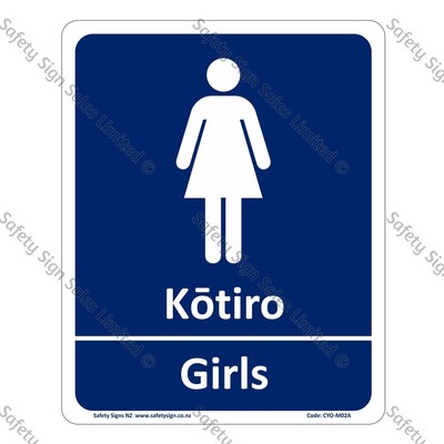 CYO|M02A - Kōtiro Girls Bilingual Signs