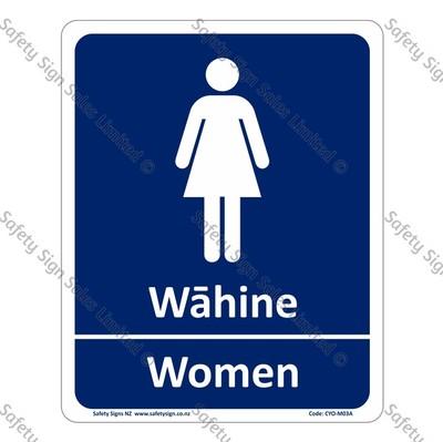 CYO M04A Wāhine Women Bilingual Sign