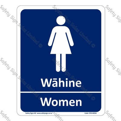 CYO|M04A Wāhine Women Bilingual Sign
