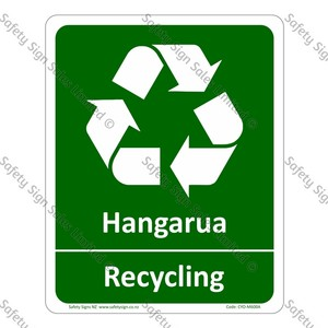 CYO|M600A - Hangarua Recycling Bilingual Sign