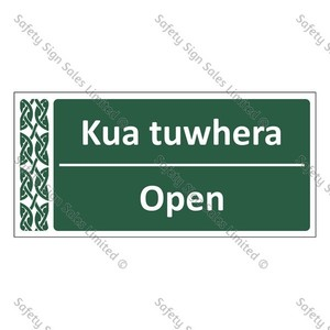 Open | Kua tuwhera - ME047