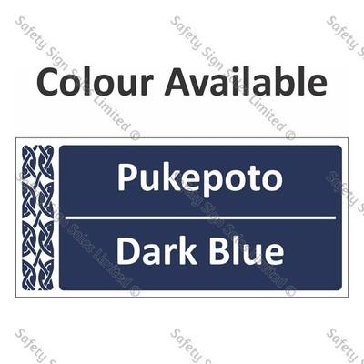 Te Reo Maori Signs - Colour Pukepoto - Blue 1