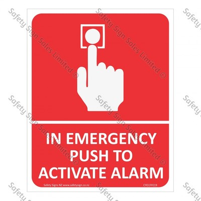 CYO|FFE19 - In Emergency Push to Activate Alarm