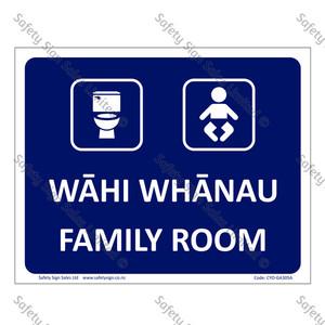 CYO|MGA305A - Wāhi Whānau Sign | Family Room