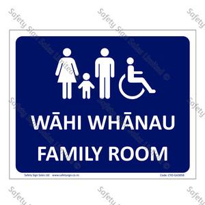CYO|MGA305B - Wāhi Whanau Sign Family Room