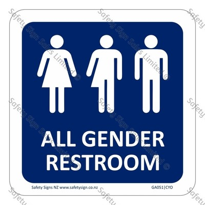 GA051|CYO - All Gender Restroom Sign