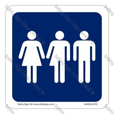 CYO|GA051A – All Gender Restroom Symbol